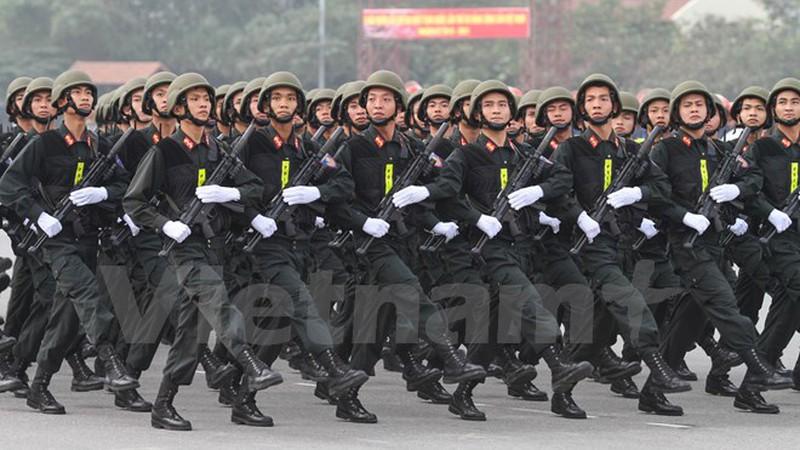 Hình ảnh lễ xuất quân bảo vệ Đại hội Đảng 12 - ảnh 5