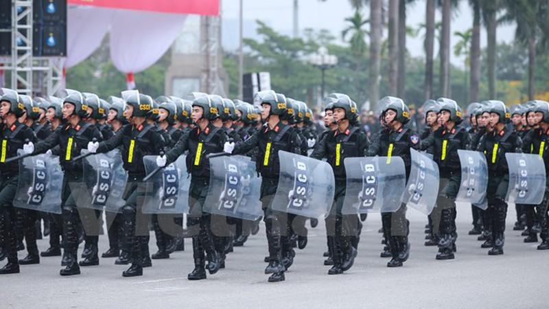 Hình ảnh lễ xuất quân bảo vệ Đại hội Đảng 12 - ảnh 6