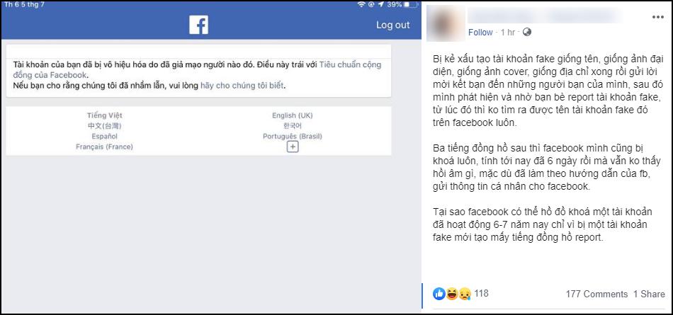 Vấn nạn lập Facebook fake tố ngược Facebook chính chủ: Kẻ gian nhởn nhơ, nạn nhân bất lực không biết làm gì - Ảnh 3.