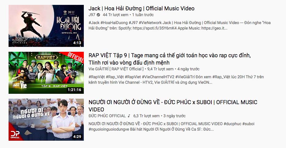 Cô trò Mỹ Tâm - Đức Phúc hội ngộ trên top trending YouTube nhưng vẫn không thể vượt qua nổi Rap Việt và Jack - Ảnh 5.