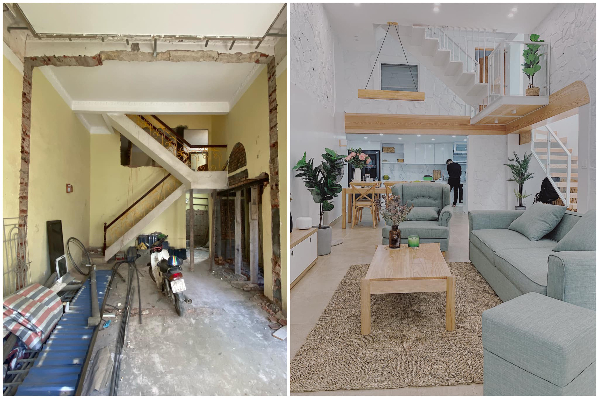 Chán cảnh nhà thuê, cặp vợ chồng ở Hải Phòng mạnh tay mua căn nhà cũ kỹ có tuổi thọ 15 năm để biến thành không gian sống đậm chất Hàn Quốc - Ảnh 3.