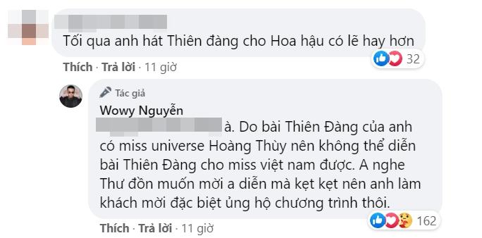 Wowy nhắc đến Hoàng Thùy khi lý giải vì sao không hát Thiên Đàng tại Chung kết Hoa hậu Việt Nam 2020 - Ảnh 2.