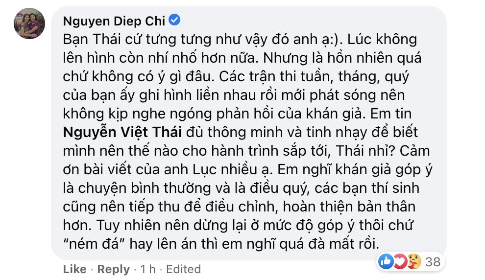 MC Diệp Chi bênh vực nam sinh gây tranh cãi vì thái độ trên sóng VTV: Tính bạn ấy vốn tưng tưng vậy đó - Ảnh 3.