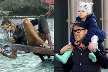 """Để con gái đỡ """"nghiện"""" Baby Shark, ông bố Ryan Reynolds định cho bé xem phim cá mập ăn thịt người do... mẹ ruột đóng"""