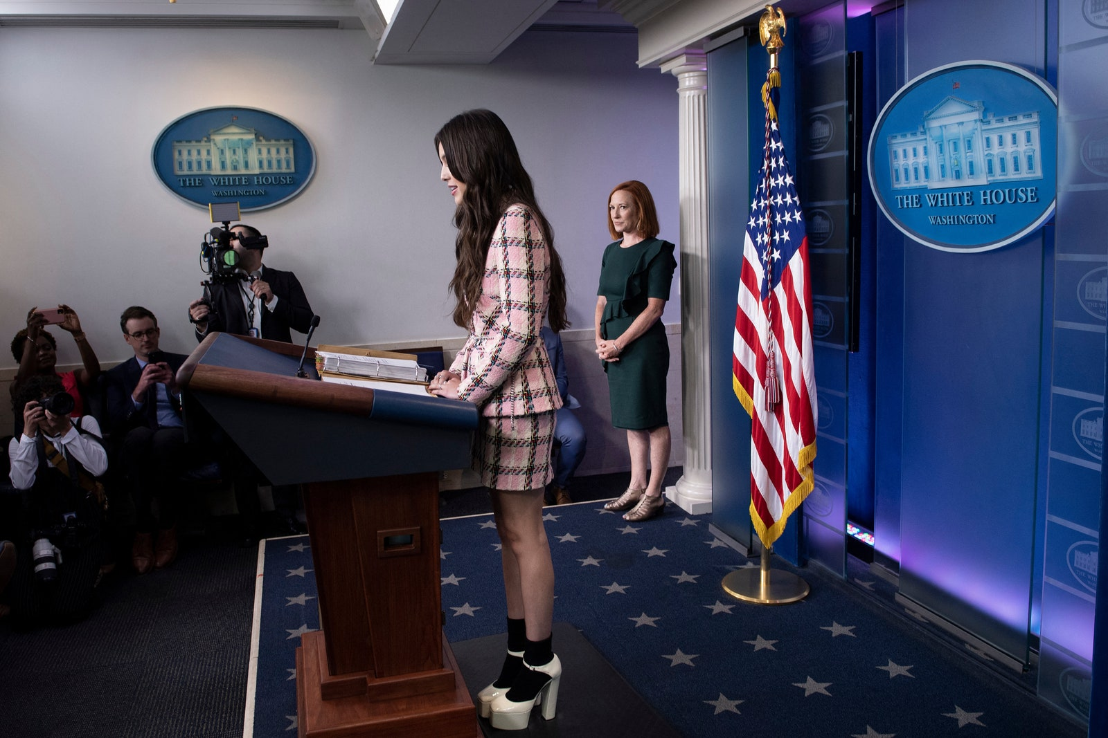 Olivia Rodrigo phát biểu trên bục Tổng thống tại Nhà Trắng nhưng náo loạn MXH vì... xinh quá - Ảnh 8.