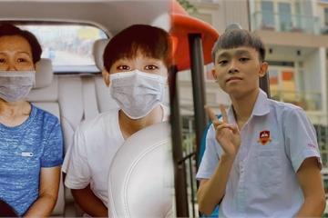 Dân mạng chia sẻ ảnh Hồ Văn Cường được mẹ ruột đưa đi làm thủ tục dự thi tốt nghiệp THPT