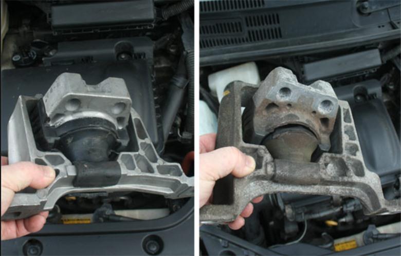 Cao su chân máy ô tô là bộ phận được lắp đặt giữa động cơ và khung xe. Ảnh: Anycar