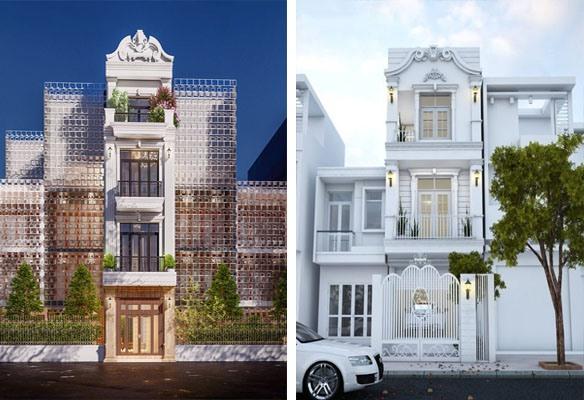Thiết kế nhà ống tân cổ điển mang lại sự sang trọng và đẳng cấp cho ngôi nhà. Đồ họa: Kim Nhung