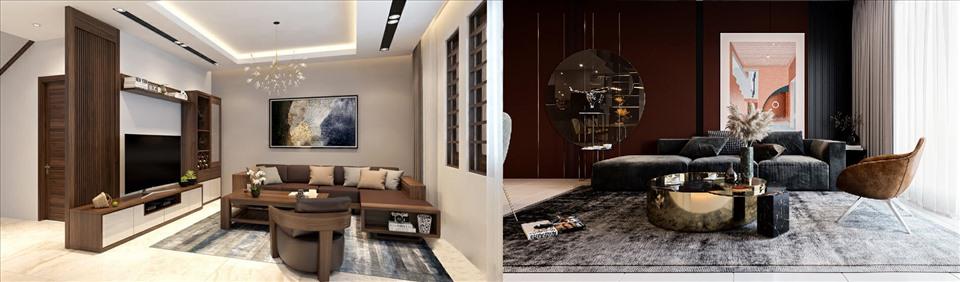 Mỗi phòng khách sẽ có những diện tích, hình dạng khác nhau, gia chủ nên lựa chọn nội thất sao cho phù hợp. Đồ họa: M.H