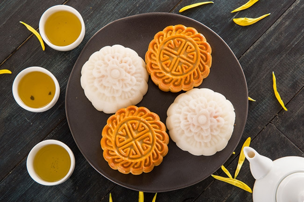 In celebrations from the past, traditional baked moon cakes were a favourite item.