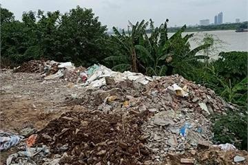 Hà Nội: Ngang nhiên đổ đất, xây dựng lấn chiếm trên hành lang thoát lũ