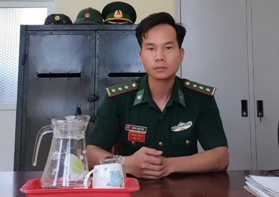 Đội trưởng trinh sát Nguyễn Mạnh Toàn. Ảnh: PV.
