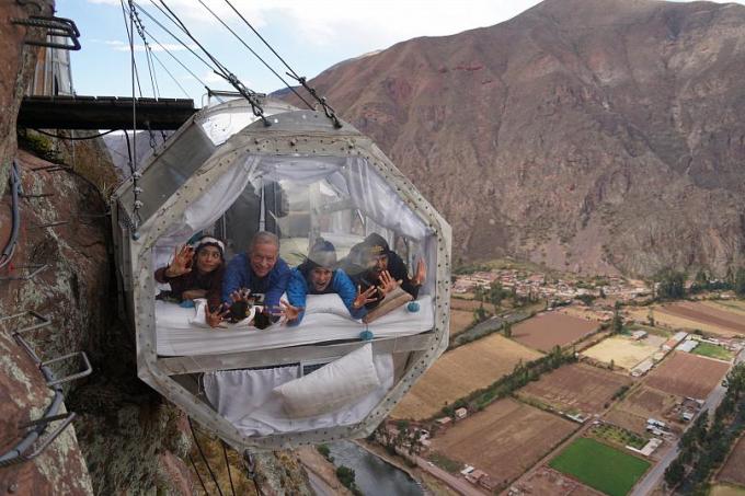 Nếu bạn không sợ độ cao, chỗ ở mạo hiểm này có thể sẽ là một đêm ngon giấc nhất mà bạn từng có.