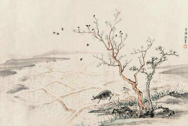Phong tục này ở Thiểm Tây được tổ chức ngay trước khi bắt đầu mùa xuân. Chính quyền địa phương thuê các nghệ nhân lành nghề và tập hợp họ để xây dựng khung của một con trâu bằng các thanh tre và chân bằng gỗ. Sau đó, các nghệ nhân dán giấy màu hoặc sơn để tạo hình ảnh rồi lập bàn thờ để cúng bái.