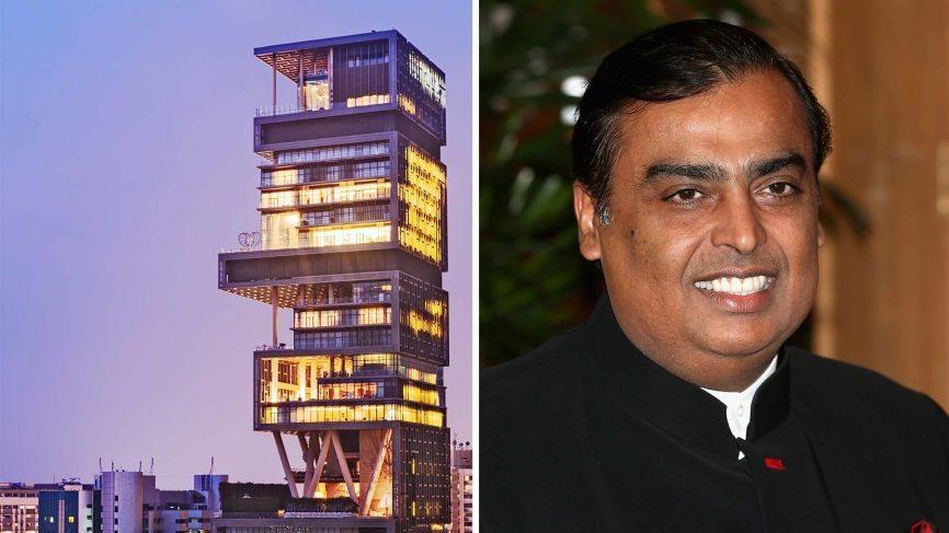 Tỉ phú người Ấn Độ Mukesh Ambani - người đứng sau Reliance Industries Ltd., đang giữ kỷ lục là người sở hữu ngôi nhà đắt kỷ lục trên thế giới. Ảnh: Architecturaldigest