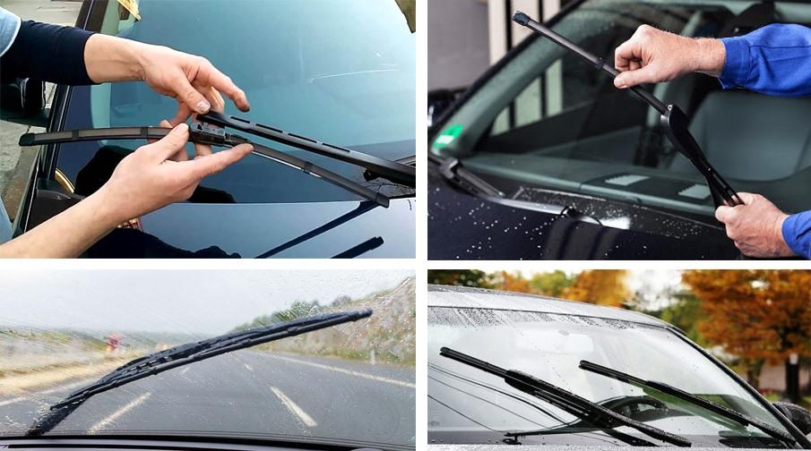 Cần gạt nước ô tô cần thay mới sau một thời gian sử dụng. (Đồ họa: Trang Thiều)
