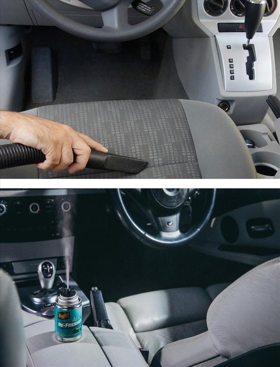 Khử mùi ô tô nhanh chóng, an toàn và hiệu quả. (Đồ họa: TT)