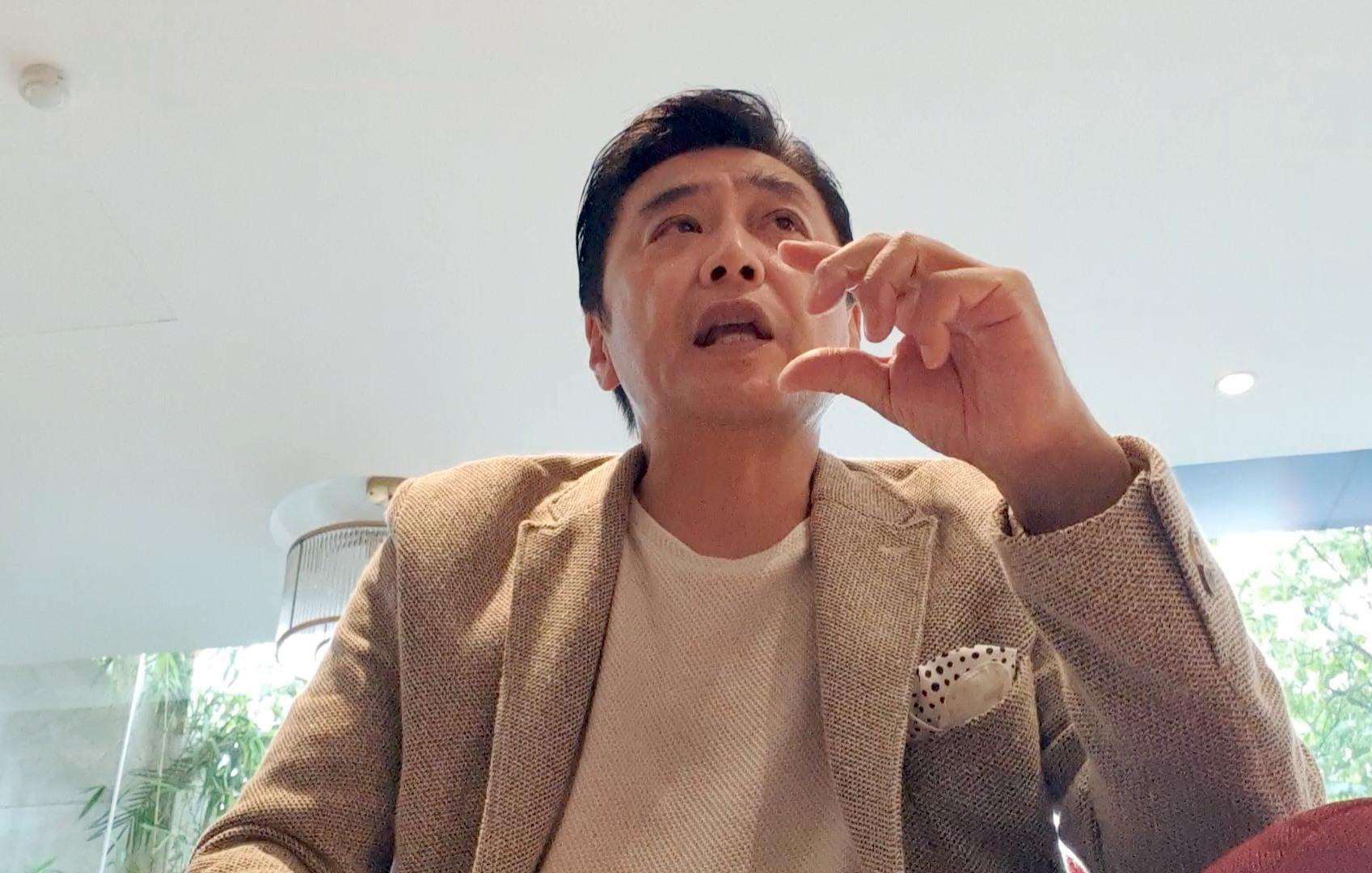 Doanh nhân Nijishima trong buổi làm việc với PV Báo Lao Động.