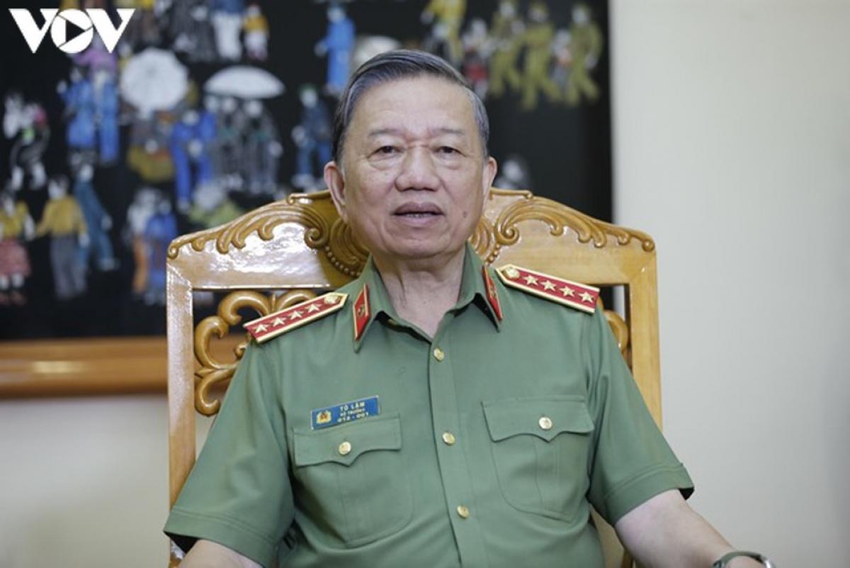 Bộ trưởng Bộ Công an - Tô Lâm.