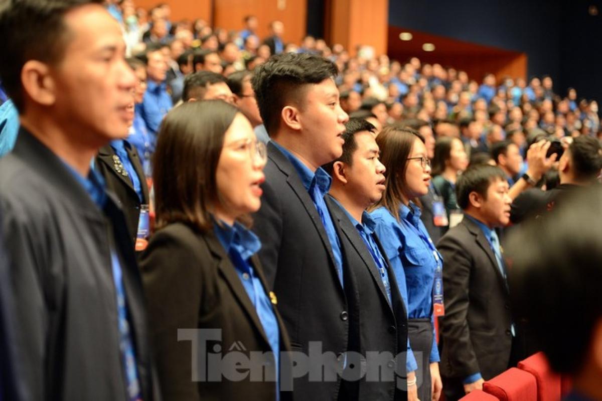 Các đại biểu dự lễ kỷ niệm 90 năm thành lập Đoàn TNCS Hồ Chí Minh - Ảnh: Báo Tiền Phong