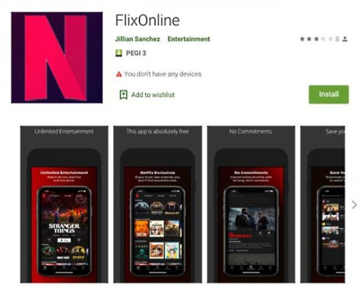Đã có khoảng 500 người tải xuống ứng dụng trước khi nó bị gỡ bỏ khỏi Google Play Store.