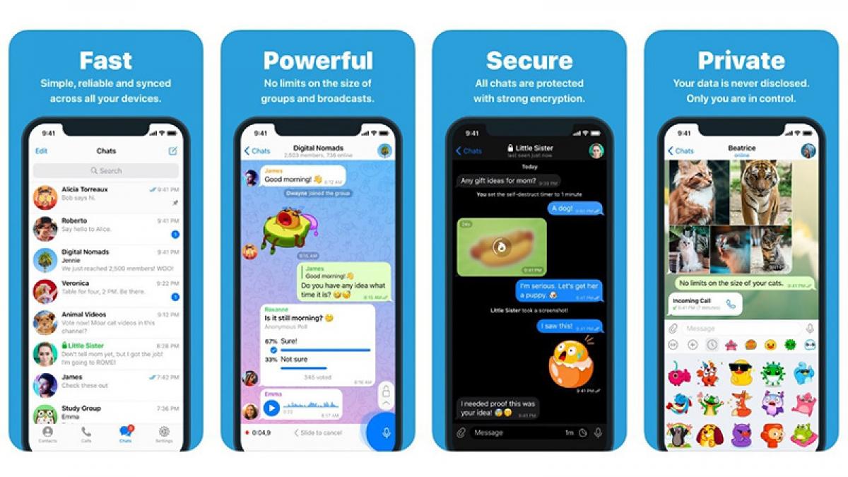 Telegram là một trong những ứng dụng nhắn tin mã hóa được sử dụng phổ biến hiện nay.