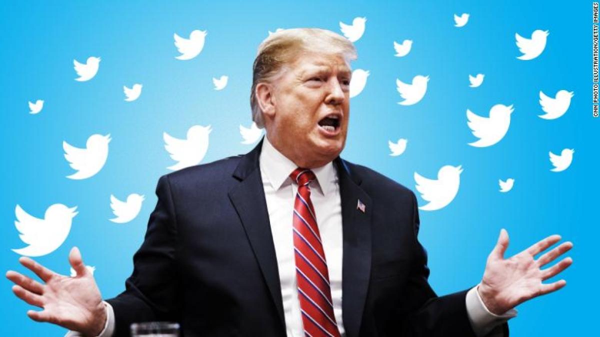Sau vụ bạo loạn ngày 6/1 ở Điện Capitol, Twitter đã đình chỉ vĩnh viễn tài khoản của ông Trump. Ảnh: CNN