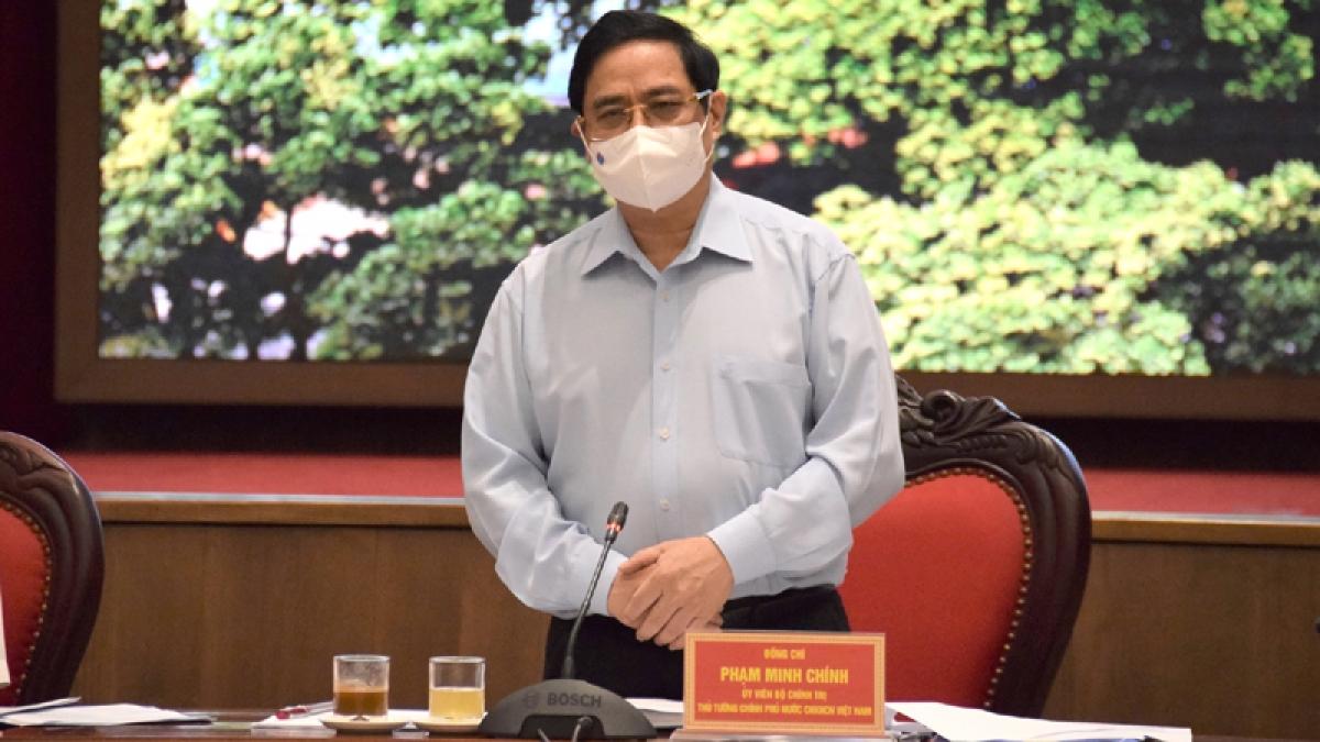 Thủ tướng Chính phủ Phạm Minh Chính làm việc với Thành phố Hà Nội