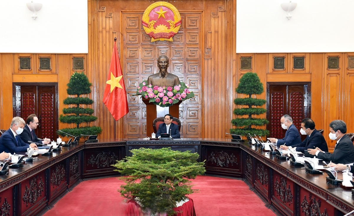 PM Pham Minh Chinh affirms Vietnam's readiness to create favourableconditions for foreign investors, including those from Russia -(Photo: VGP)