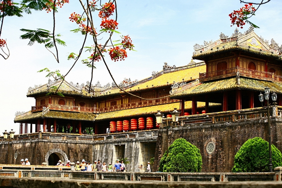 Hue Imperial Citadel(Dai Noi) in the central province of Thue Thien-Hue