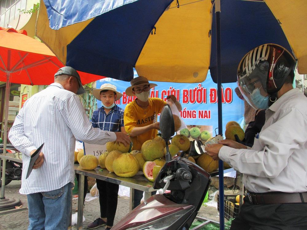 Người dân TP HCM giải cứu bưởi đào đặc sản giá 15.000 đồng/kg - Ảnh 2.