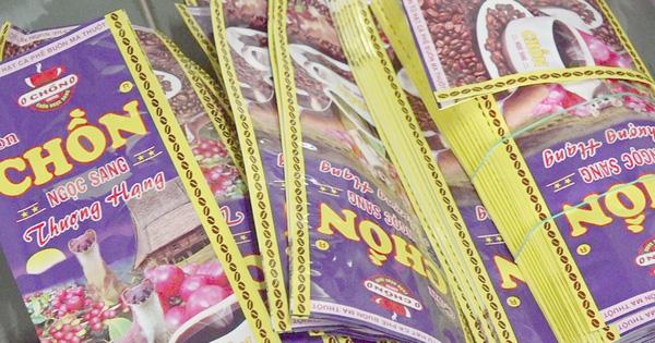 """Cơ sở sản xuất cà phê hiệu """"con chồn thượng hạng"""" chứa 80% đậu nành"""