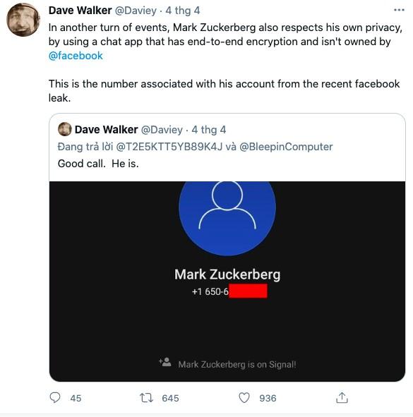 CEO Facebook chuyển sang dùng cả Signal ảnh 1