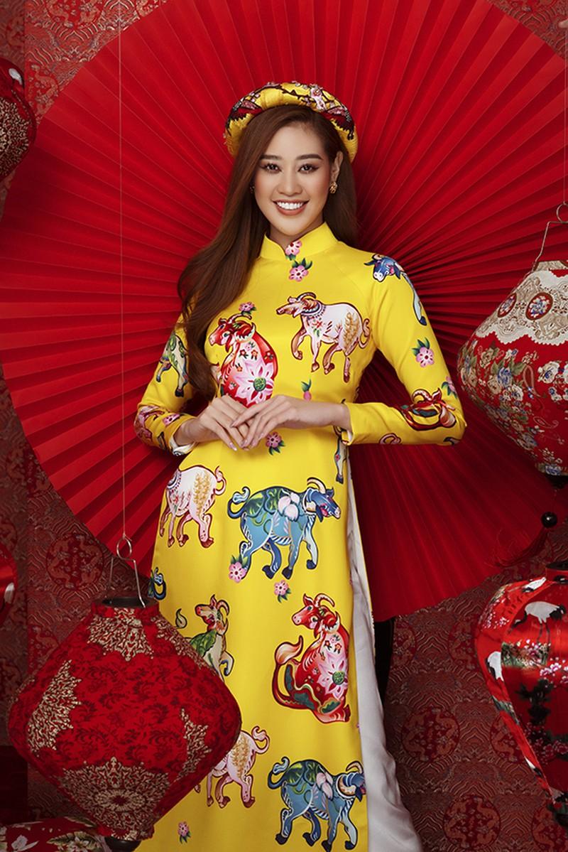Dàn người đẹp Hoa hậu Hoàn vũ rạng ngời trong bộ ảnh Tết - ảnh 2