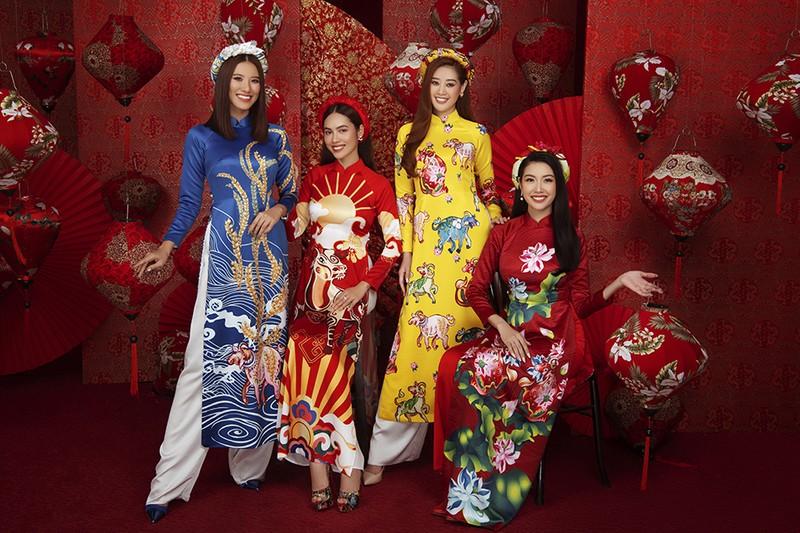 Dàn người đẹp Hoa hậu Hoàn vũ rạng ngời trong bộ ảnh Tết - ảnh 1