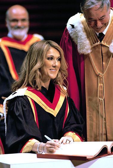 Danh ca Céline Dion nhận bằng tiến sĩ âm nhạc ảnh 2