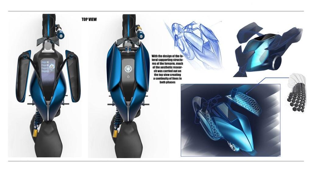 """Bản concept Yamaha Double Y cực """"dị"""" lấy cảm hứng từ bộ môn giải phẫu cơ thể người ảnh 7"""