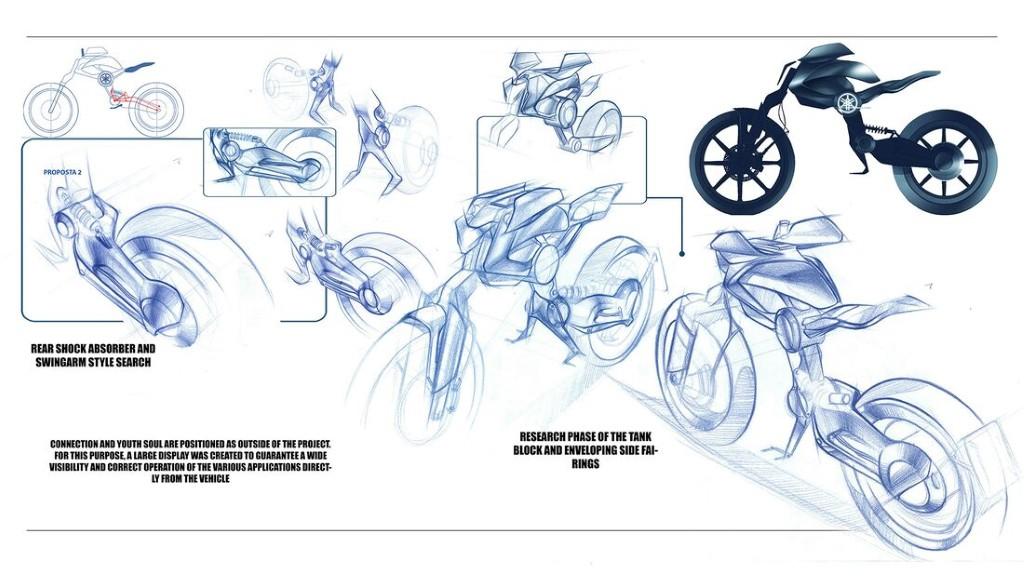 """Bản concept Yamaha Double Y cực """"dị"""" lấy cảm hứng từ bộ môn giải phẫu cơ thể người ảnh 2"""
