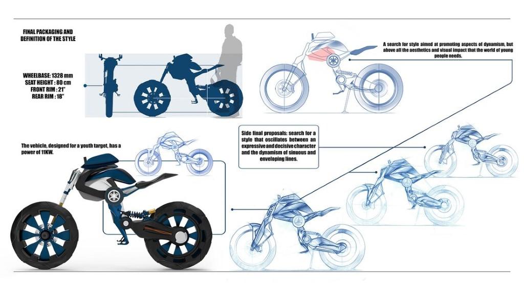 """Bản concept Yamaha Double Y cực """"dị"""" lấy cảm hứng từ bộ môn giải phẫu cơ thể người ảnh 8"""