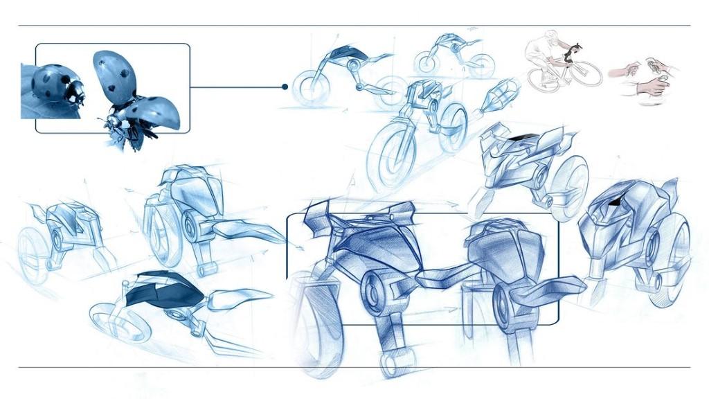 """Bản concept Yamaha Double Y cực """"dị"""" lấy cảm hứng từ bộ môn giải phẫu cơ thể người ảnh 5"""