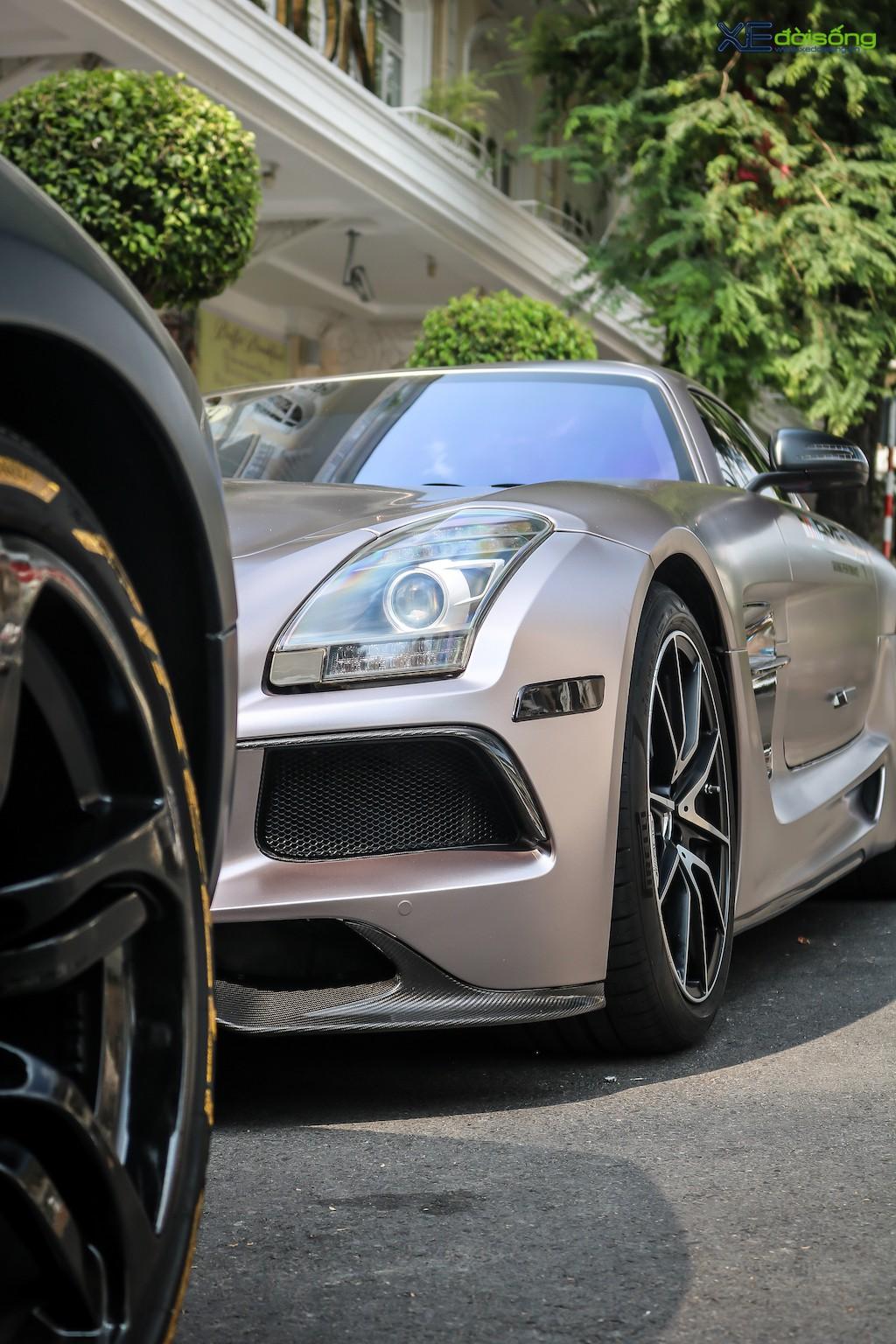 """Siêu xe """"cánh chim"""" Mercedes SLS AMG tại Sài Gòn với nhiều chi tiết mang dấu ấn cá nhân ảnh 12"""