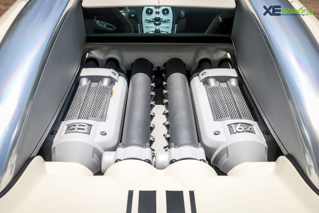 """Khám phá từng ngóc ngách """"ông hoàng tốc độ"""" Bugatti Veyron 16.4 độc nhất Việt Nam ảnh 11"""