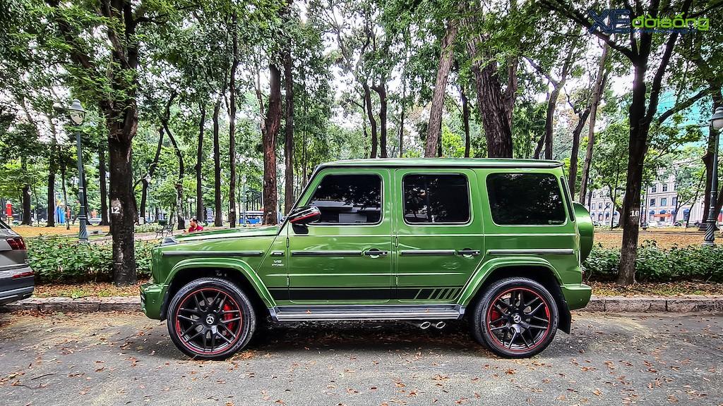 """""""Mát mắt"""" khi nhìn SUV hàng hot Mercedes-AMG G 63 Edition 1 màu cực nổi trên phố Sài Gòn ảnh 2"""