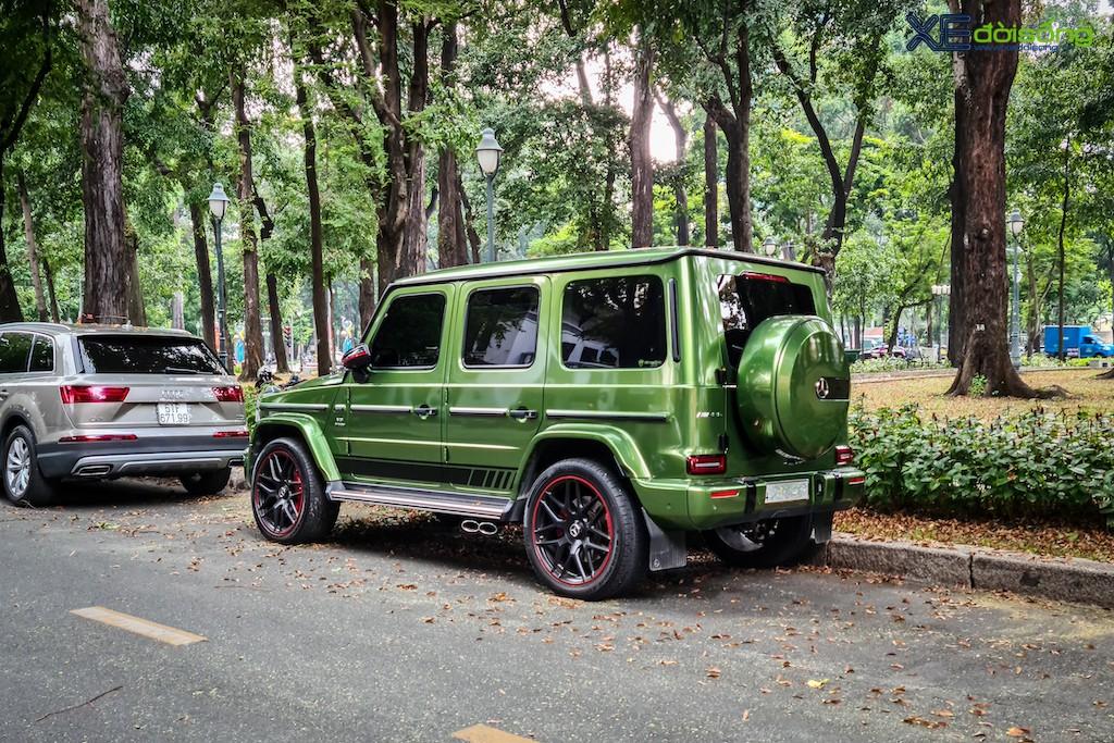 """""""Mát mắt"""" khi nhìn SUV hàng hot Mercedes-AMG G 63 Edition 1 màu cực nổi trên phố Sài Gòn ảnh 3"""