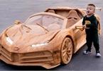 Ông bố trẻ Việt làm Bugatti Centodieci bằng gỗ chạy điện cho con lái