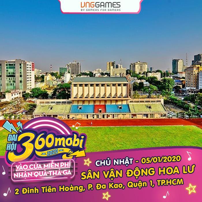 """Đại hội 360mobi 2020 được xem là sự kiện Game đình đám nhất trên dải đất hình chữ S vào những ngày đầu năm 2020. Là hoạt động thường niên của VNG tổ chức để game thủ Việt """"bung xõa"""" nhận quà, tham gia các tựa game siêu hot của VNG cũng như tìm hiểu game mới trên thị trường Việt và quốc tế"""