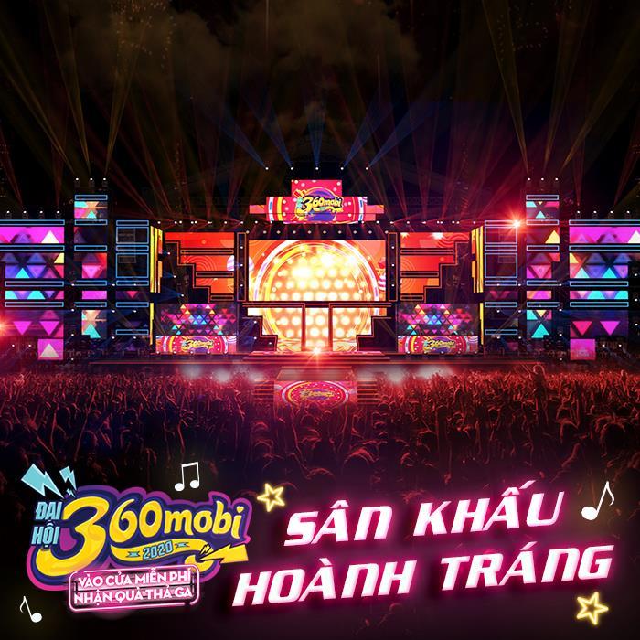 Sân khấu hoành tráng để chuẩn bị cho bữa tiệc âm nhạc - Đại hội 360mobi 2020
