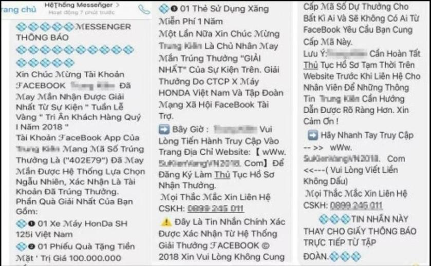 Cảnh báo 3 chiêu trò lừa đảo trúng thưởng qua điện thoại, mạng xã hội - Ảnh 2.