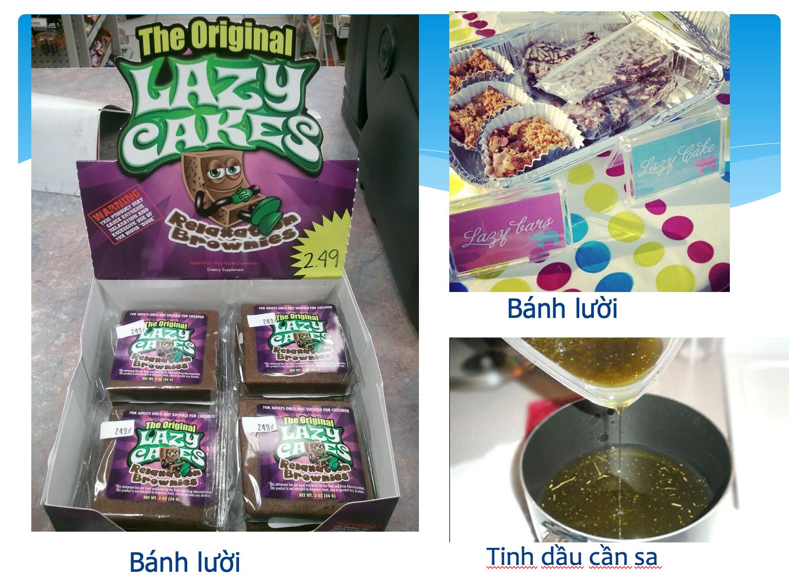 Hình ảnh về bánh, kẹo tẩm cần sa do Công an Hà Nội cung cấp