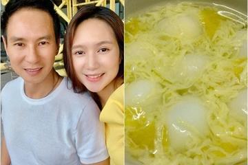Nóng không ăn nổi cơm, vợ kém 17 tuổi vào bếp làm chè trứng và phản ứng của Lý Hải